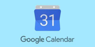 Google Calendar fondo azul celeste
