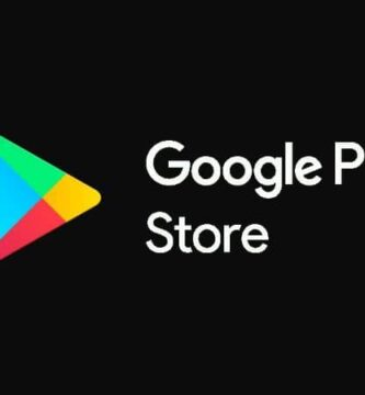 Logotipo da Google Play Store com fundo preto