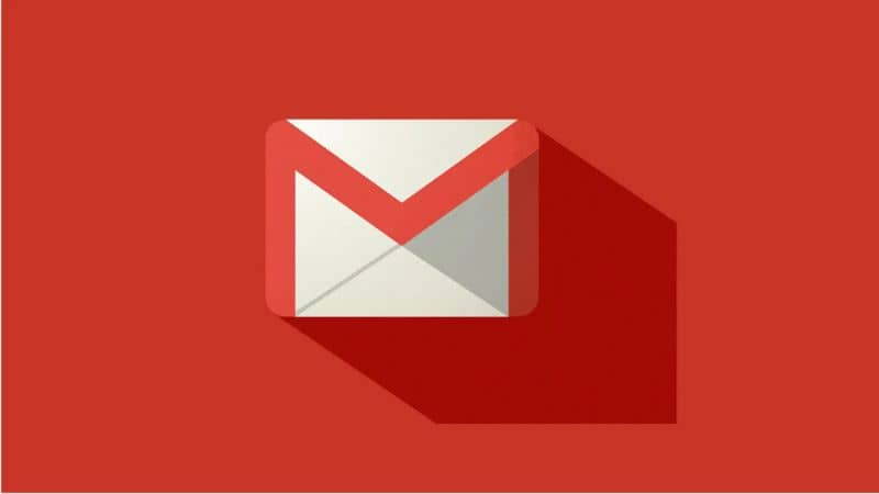 Fundo vermelho do ícone do Gmail