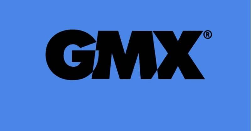 Gmx logo sfondo blu