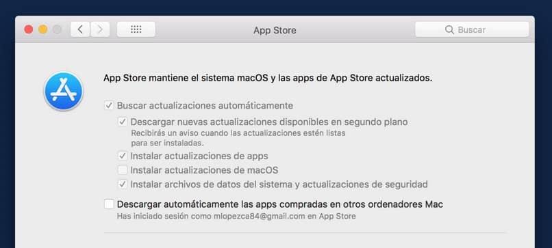 atualização da loja de aplicativos