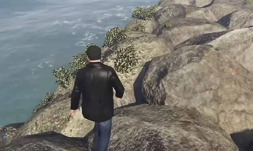 pedras mar homem