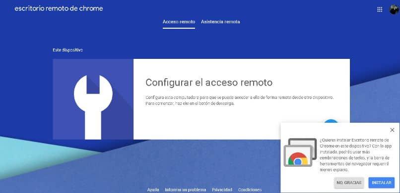 configurar acceso remoto
