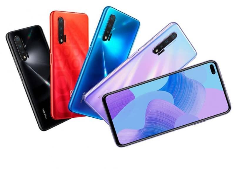 telefones de várias cores