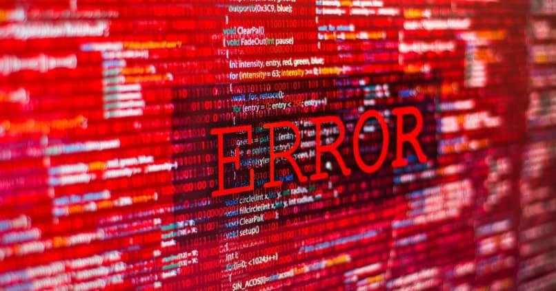 tela de erro de código vermelho