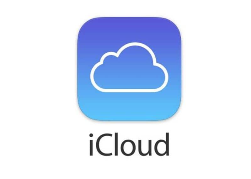 Logotipo do ICloud com fundo branco