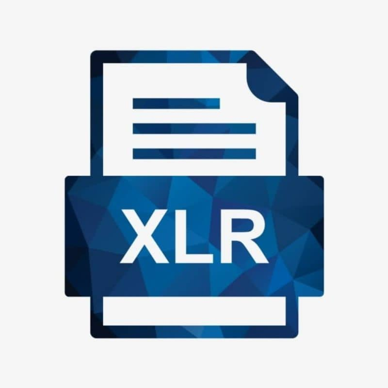 icoco de archivo XLR fondo blanco