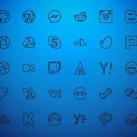 icono wordpress azul