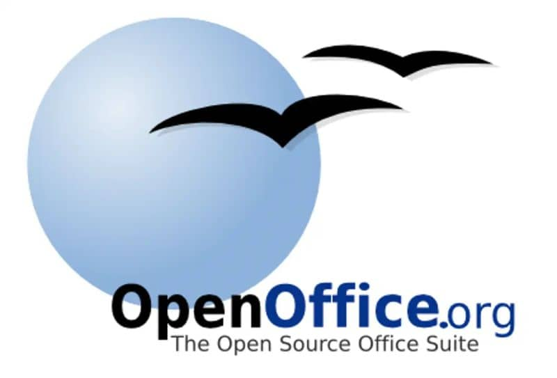 Logotipo antigo do OpenOffice em fundo branco