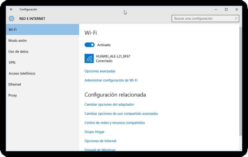 configuração de rede wi-fi