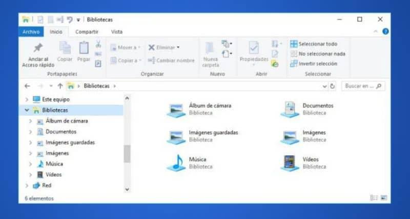 Biblioteca do Windows 10