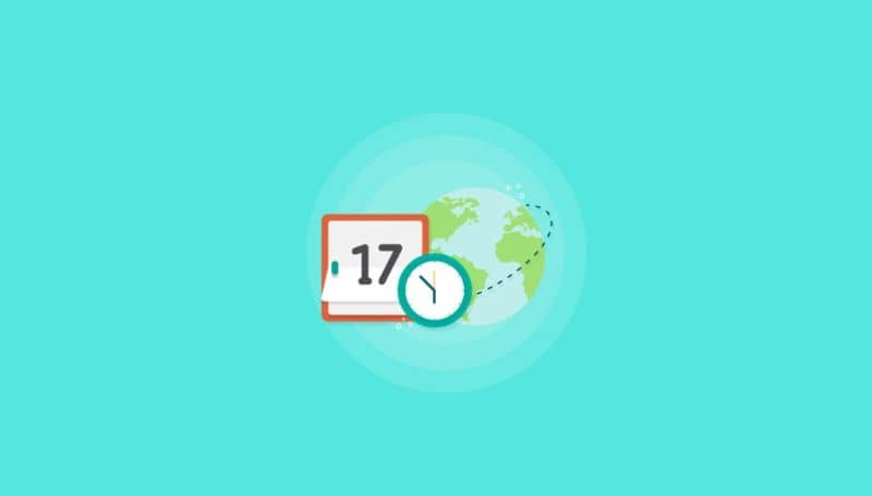 Fundo claro do calendário de data e hora