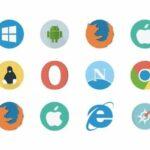 Fundo branco dos logotipos dos navegadores