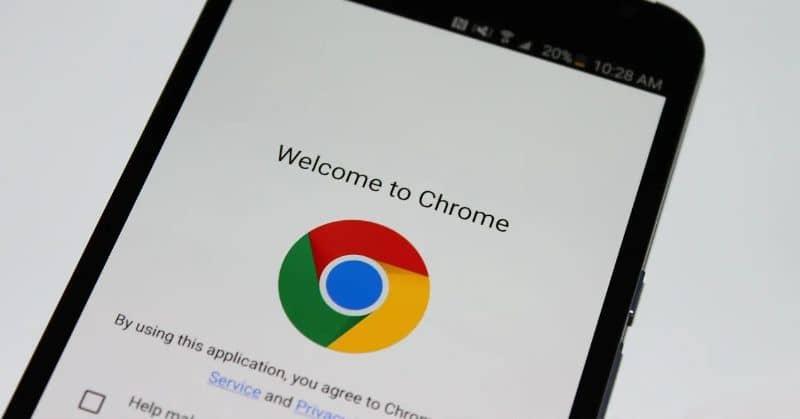 Navegador Google Chrome padrão para celular Android
