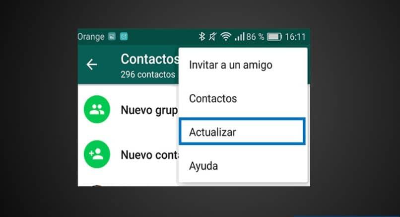 atualizar o fundo preto do aplicativo WhatsApp