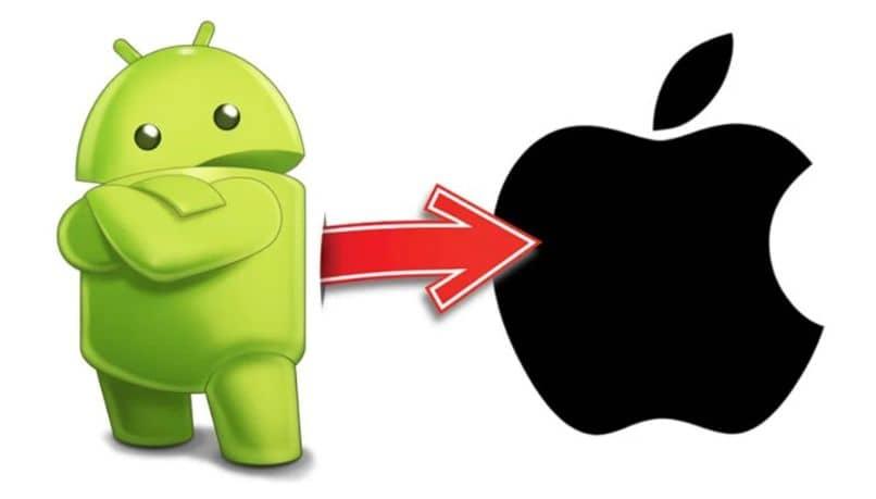 android seta apple ios branco fundo