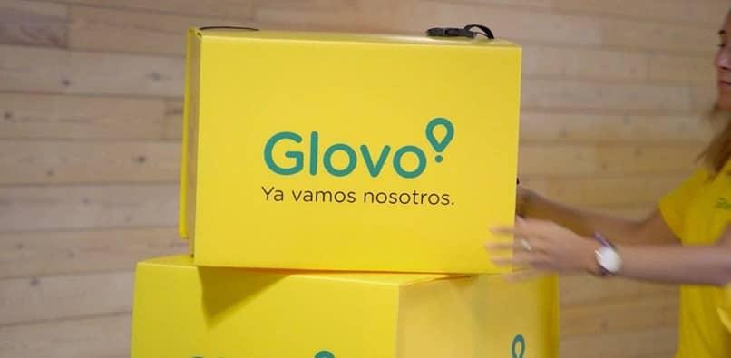 caixas amarelas glovo
