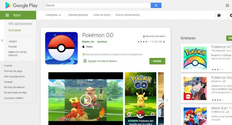 play store pikachu instalar pokemon go pokebola