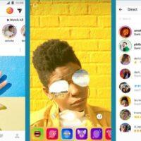 óculos de parede de mão afro com app instagram
