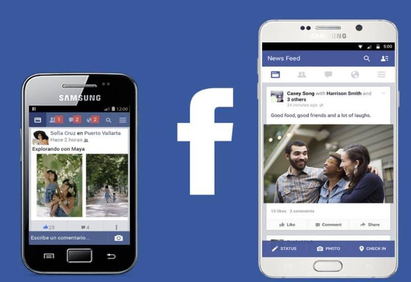 mulher samsung celular facebook fundo azul menina árvores