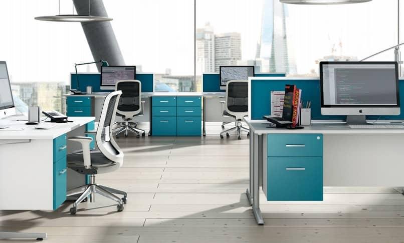 espaço de trabalho de escritório