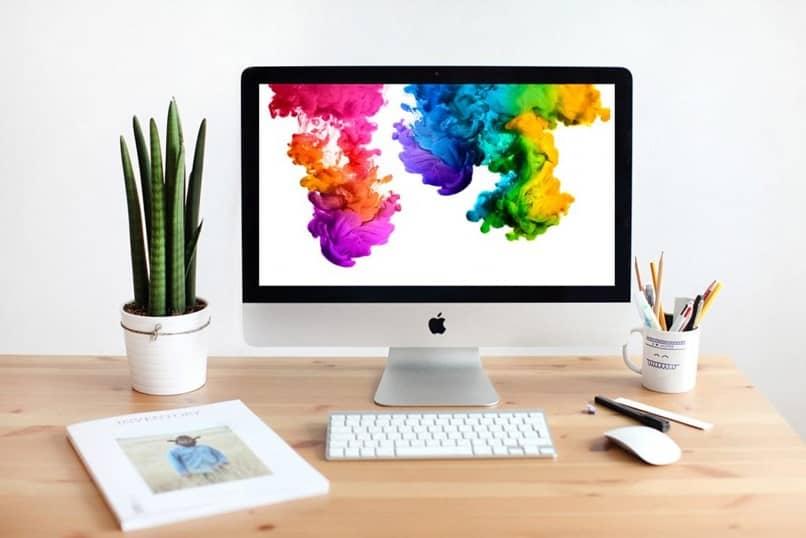 cores da tela mac desktop