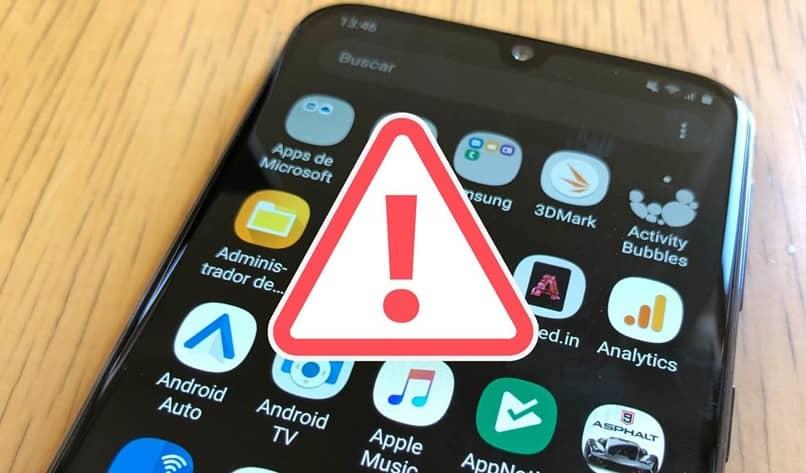 sinal de alerta do aplicativo