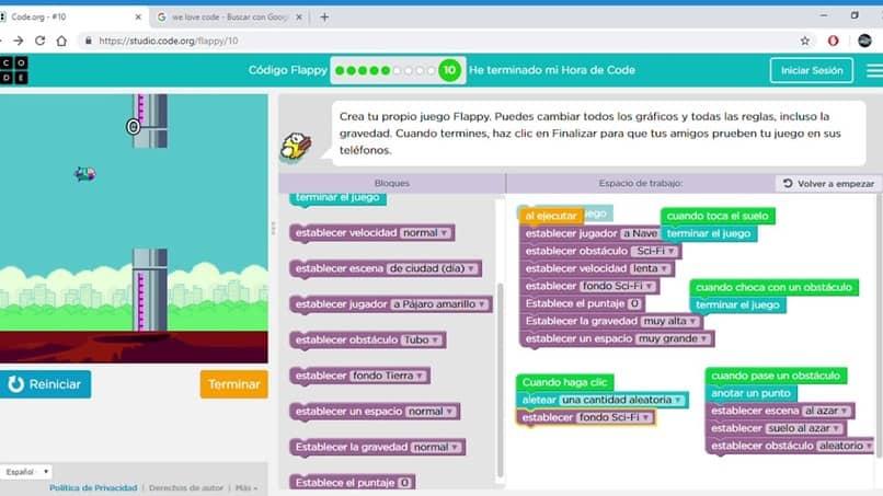 programa em código web