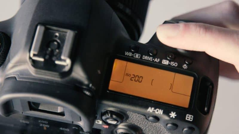 Configurações da câmera