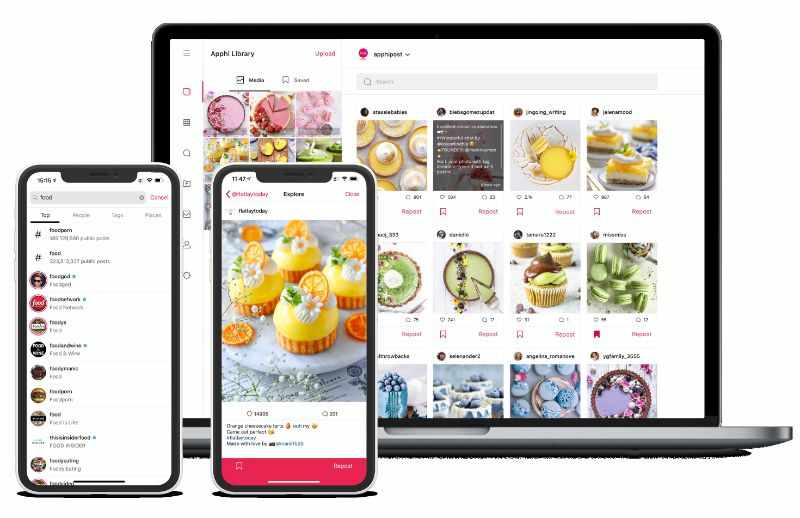 Agende postagens no Instagram com Apphi em diferentes dispositivos