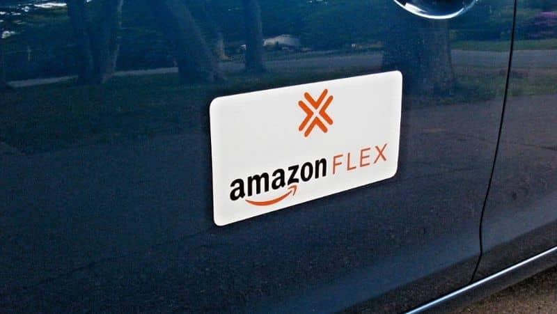 Logo Amazon Flex, carro