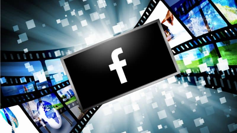 Logo Facebook, rollo de pelicula