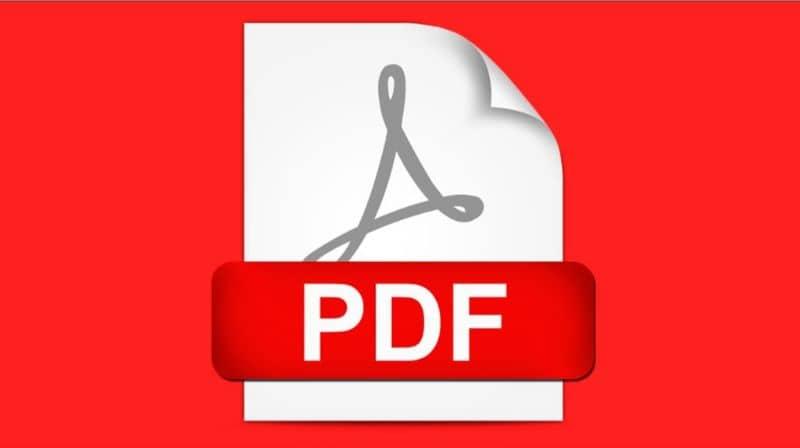 Fundo vermelho do logotipo do PDF