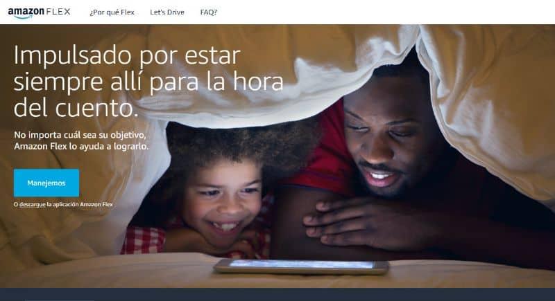 Página Web Amazon Flex