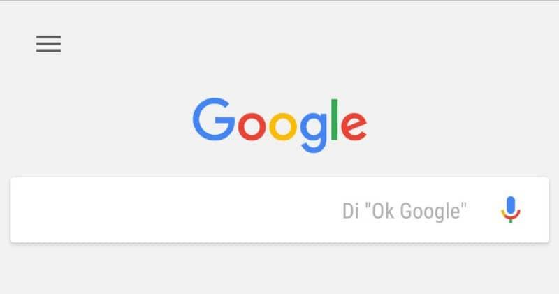 Tela OK do Google