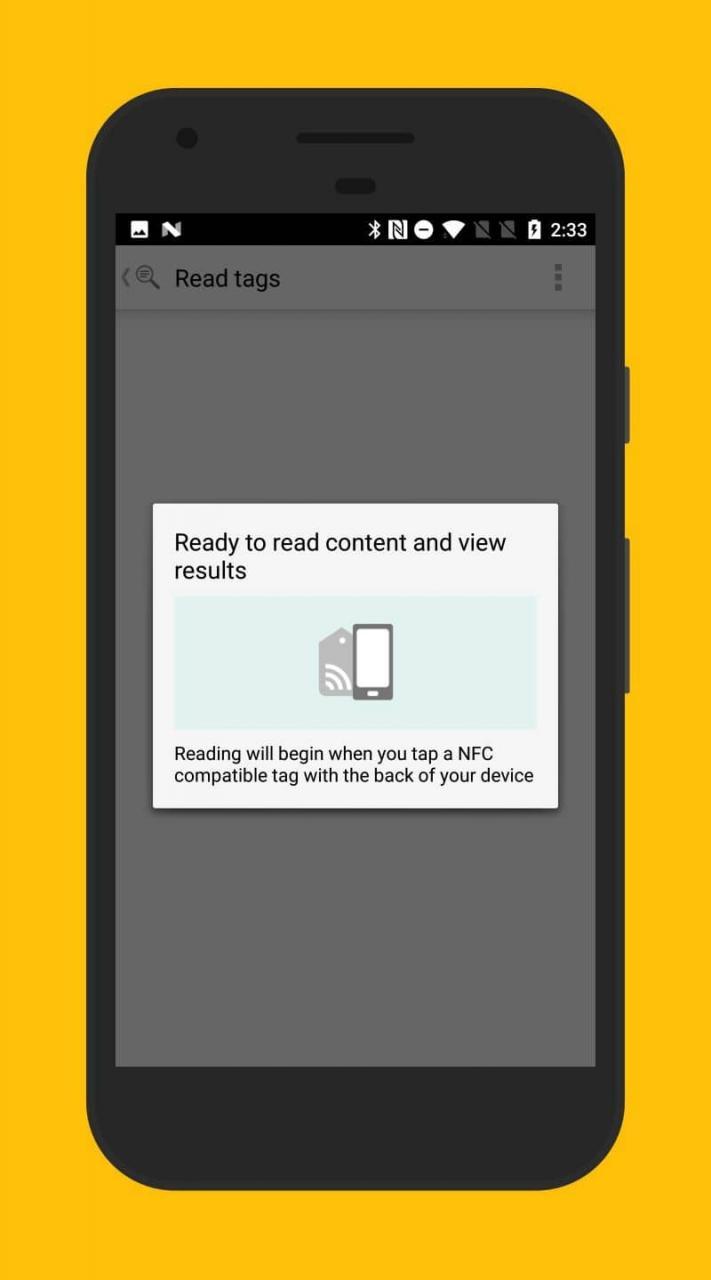 Tarjeta NFC en movil Android