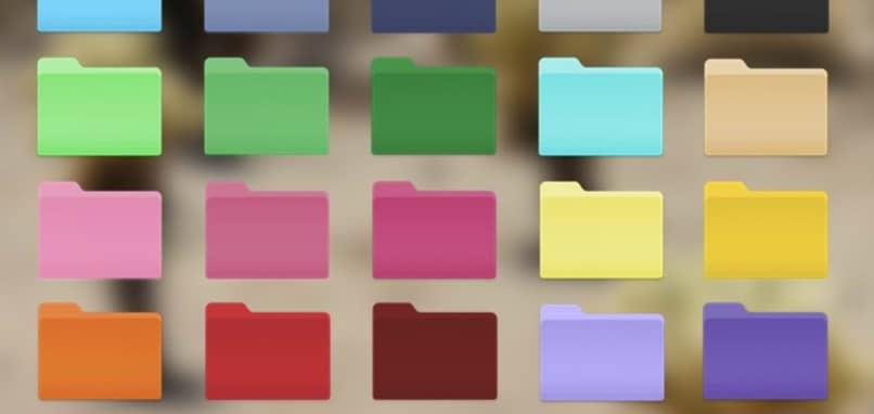 pastas de cores mac