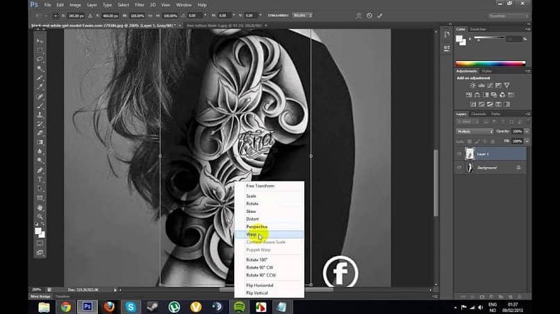 Adicionar tatuagens a uma foto
