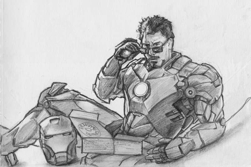 dibujo ironman tony stark