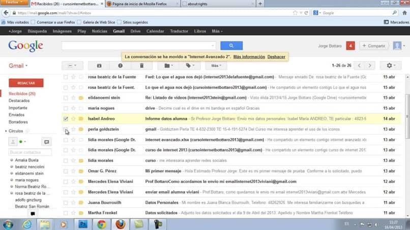 salvar e-mails do gmail