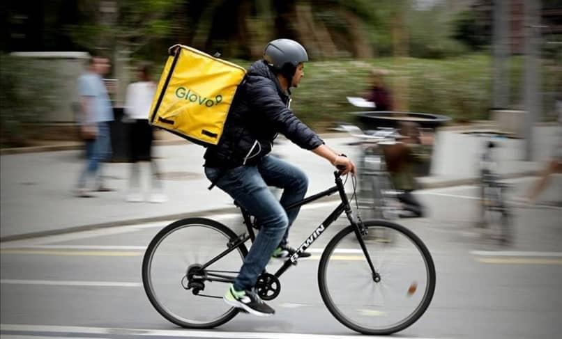 entrega de bicicleta glovo