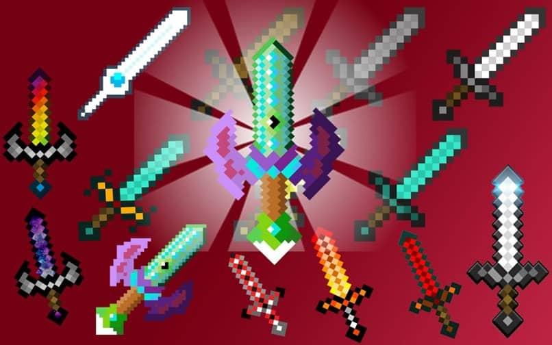 espadas fundo vermelho