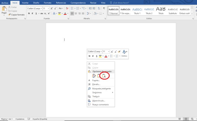 editar formato texto word