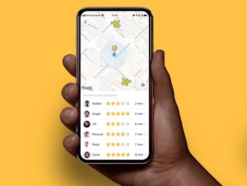 app mapa de localização glovo