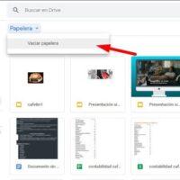 aplicação google drive lixeira seta fundo branco