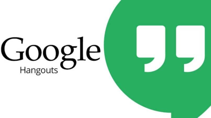 fundo branco do logotipo do Google Hangouts
