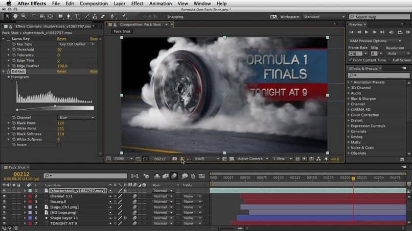 editor automático após efeitos