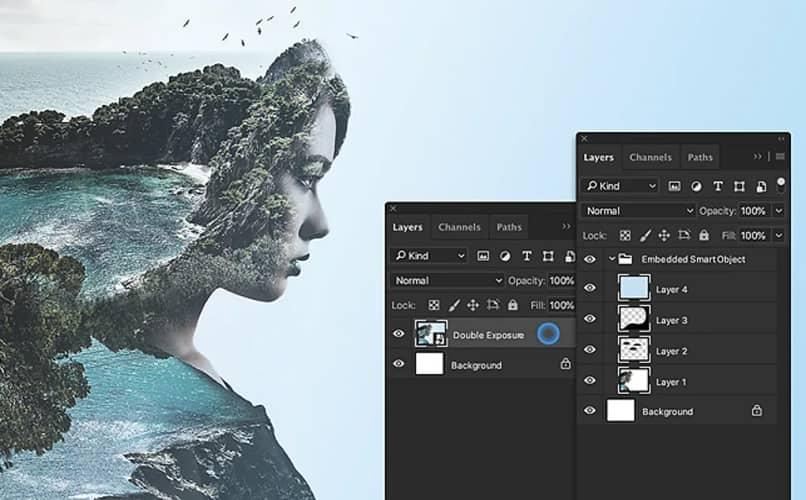camadas e edição no photoshop