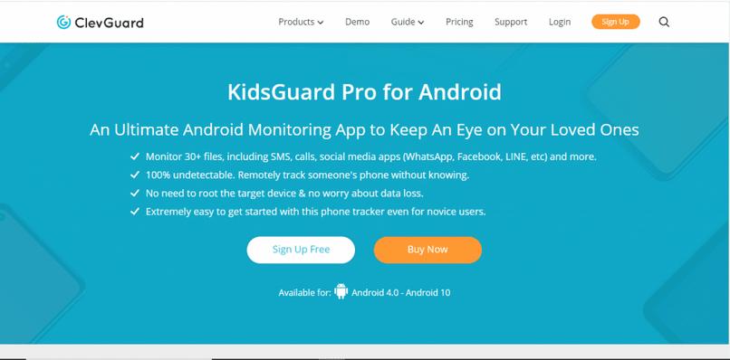 página kidsguard