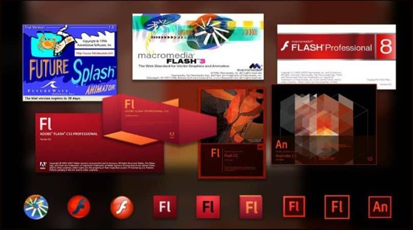 logotipo do Adobe Flash Player desfocar o fundo